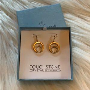 BNIB Touchstone Crystal by Swarovski Earrings